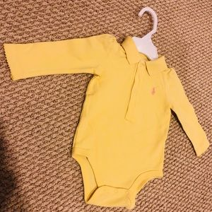 USED Ralph Lauren Long Sleeve Polo Onesie